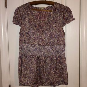 Banana Republic Size Large floral blouse